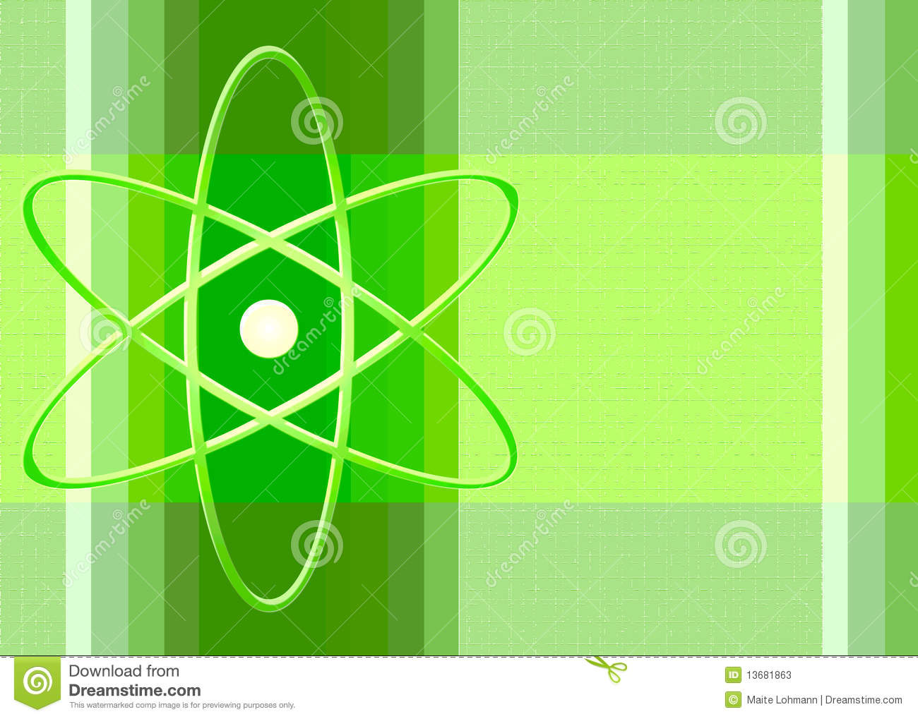 Nuclear Symbol In Green Stock Photos - Image: 13681863