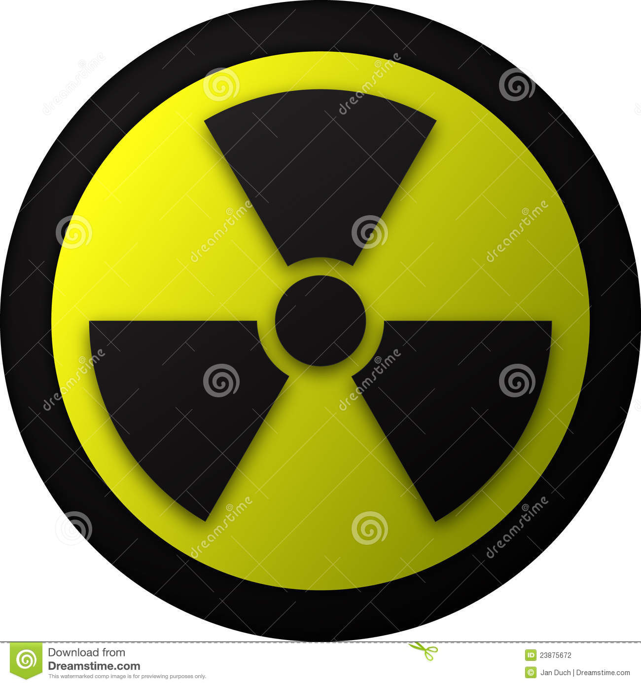 Nuclear warning symbol illustration