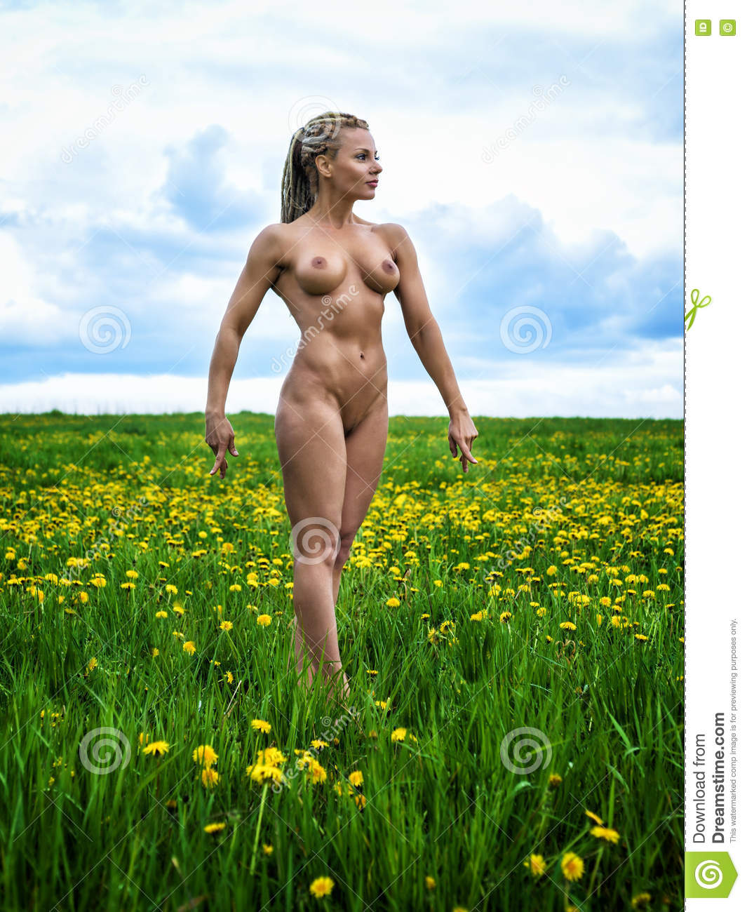 Nude In Field 45