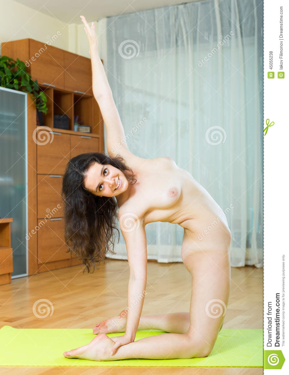 Share your Nude girl doing yoga something