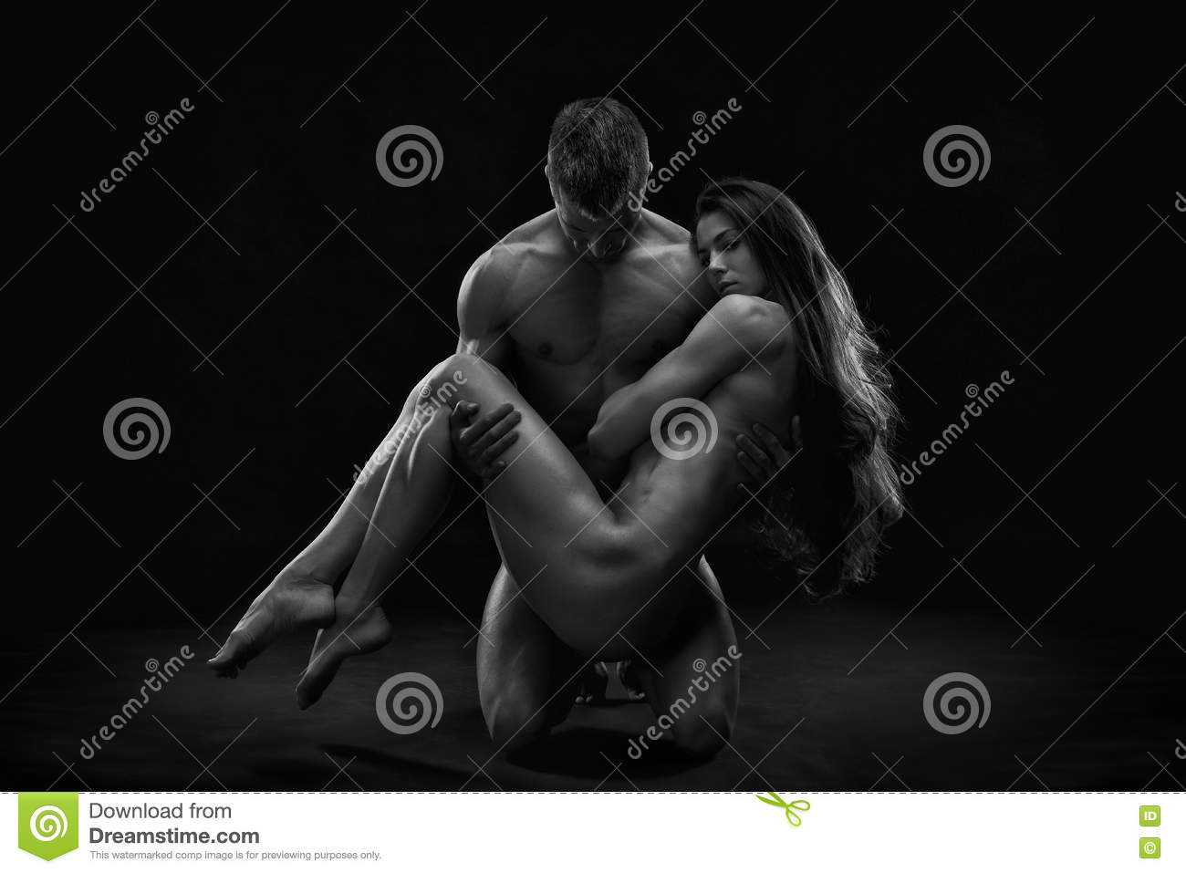 Nude Couples Black White 48