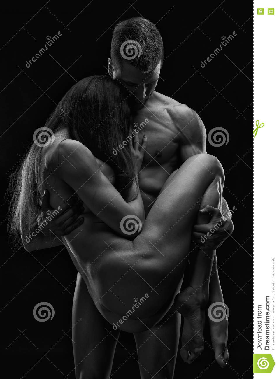 Black and white woman and man nude artistic-7699