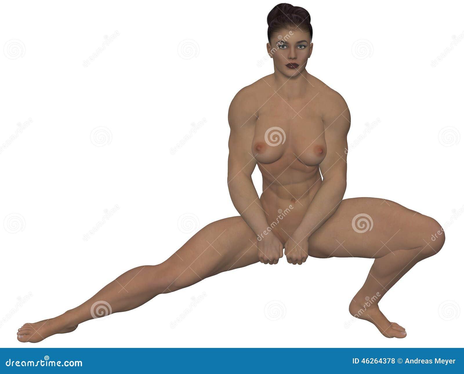 strong black girls naked