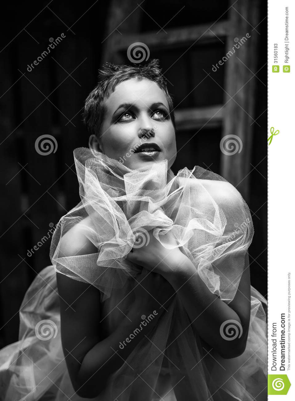 Nude young woman outdoor stock image. Image of american