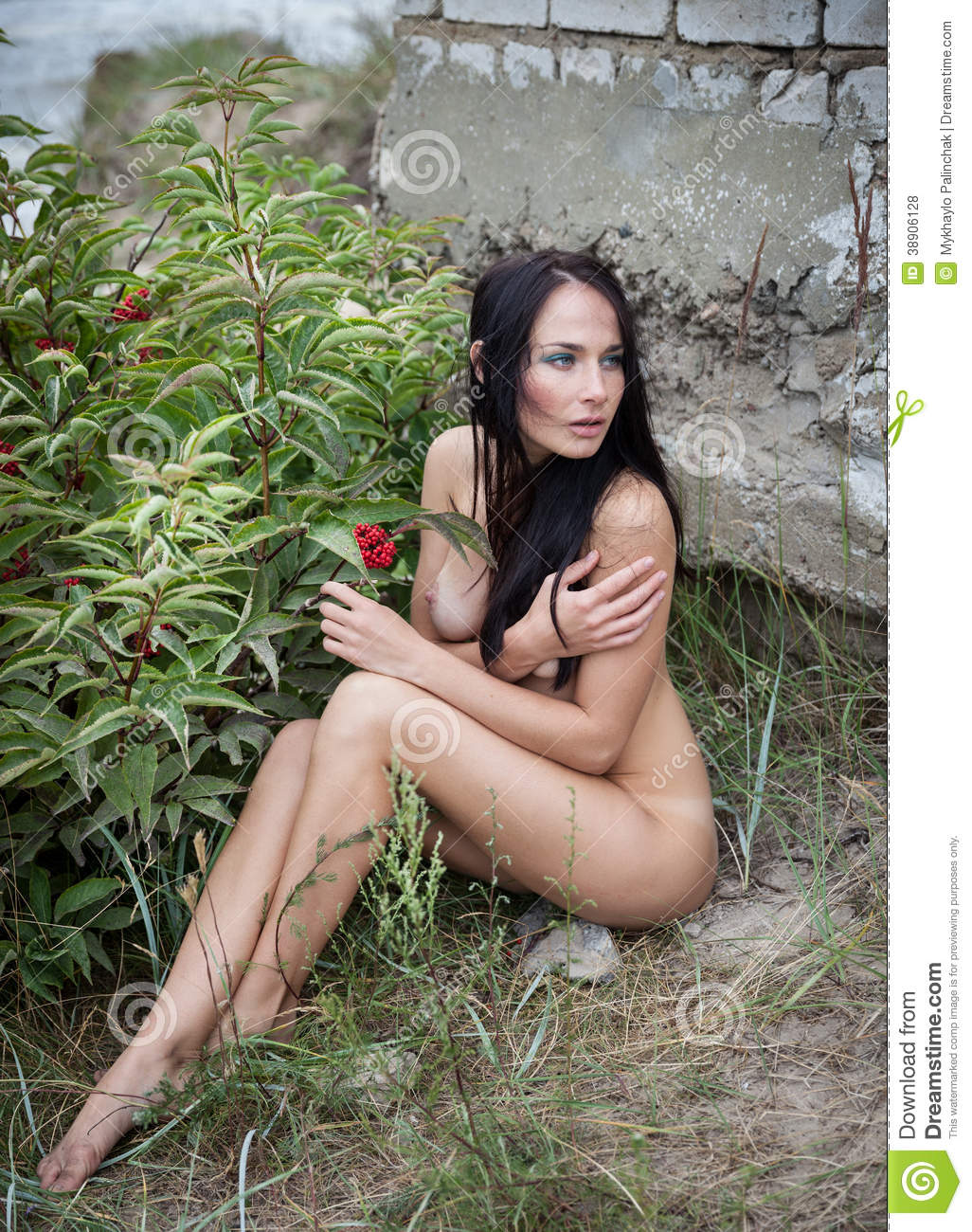 Nude Woman Against Nature Background Stock Photo - Image -9950