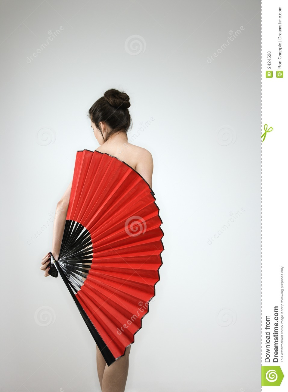 Nude Woman With Fan Stock Photo - Image 2424520-7913