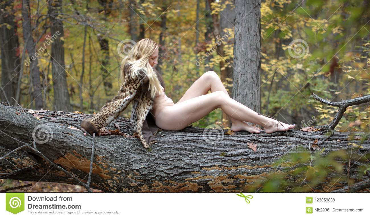 Nude woman in the forest