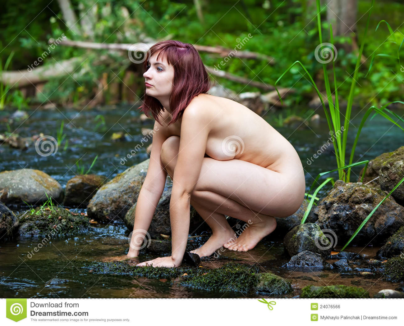 young nudist naked forest