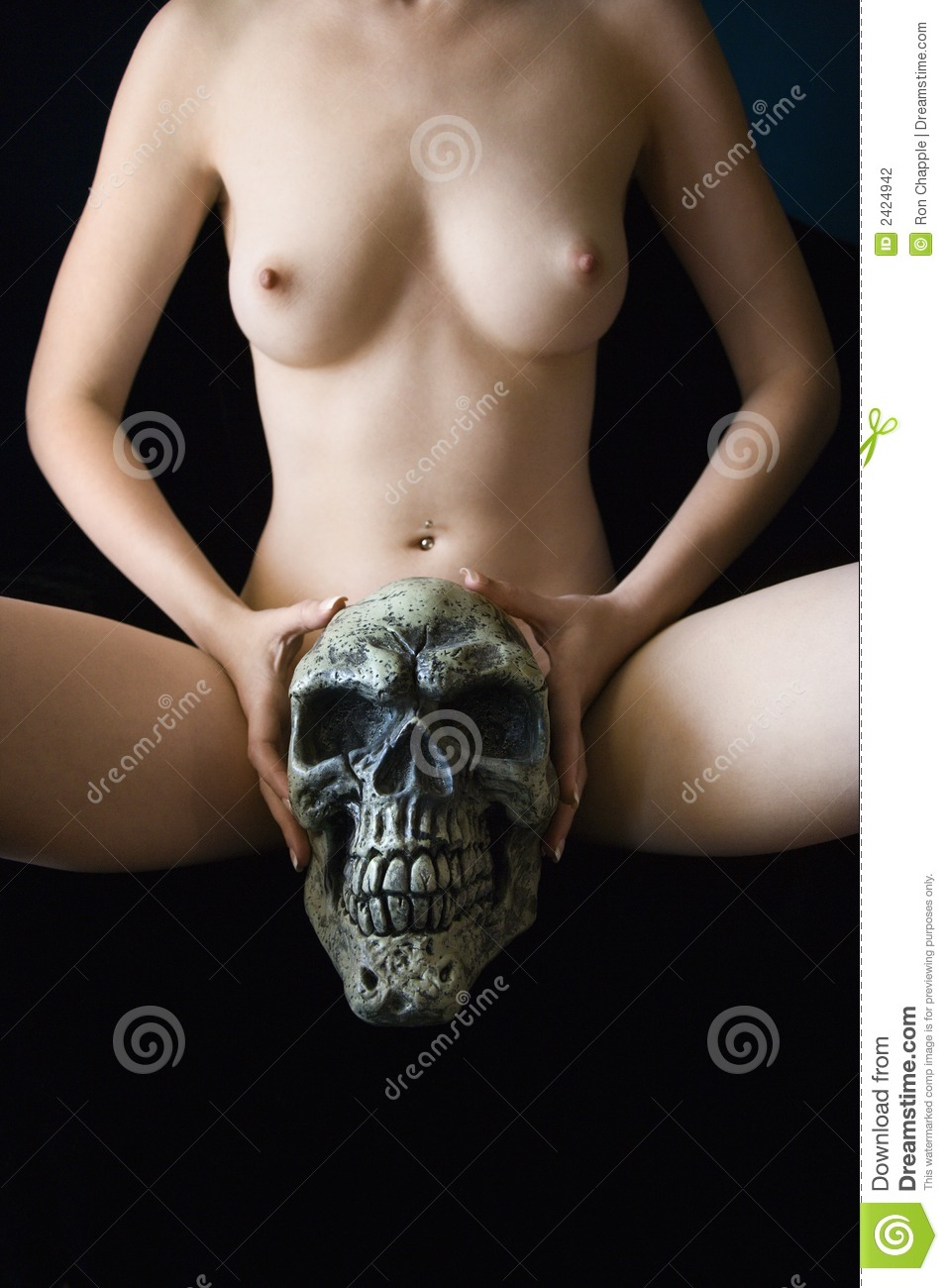Nude Woman Holding Skull Stock Photo Image Of Body -5511