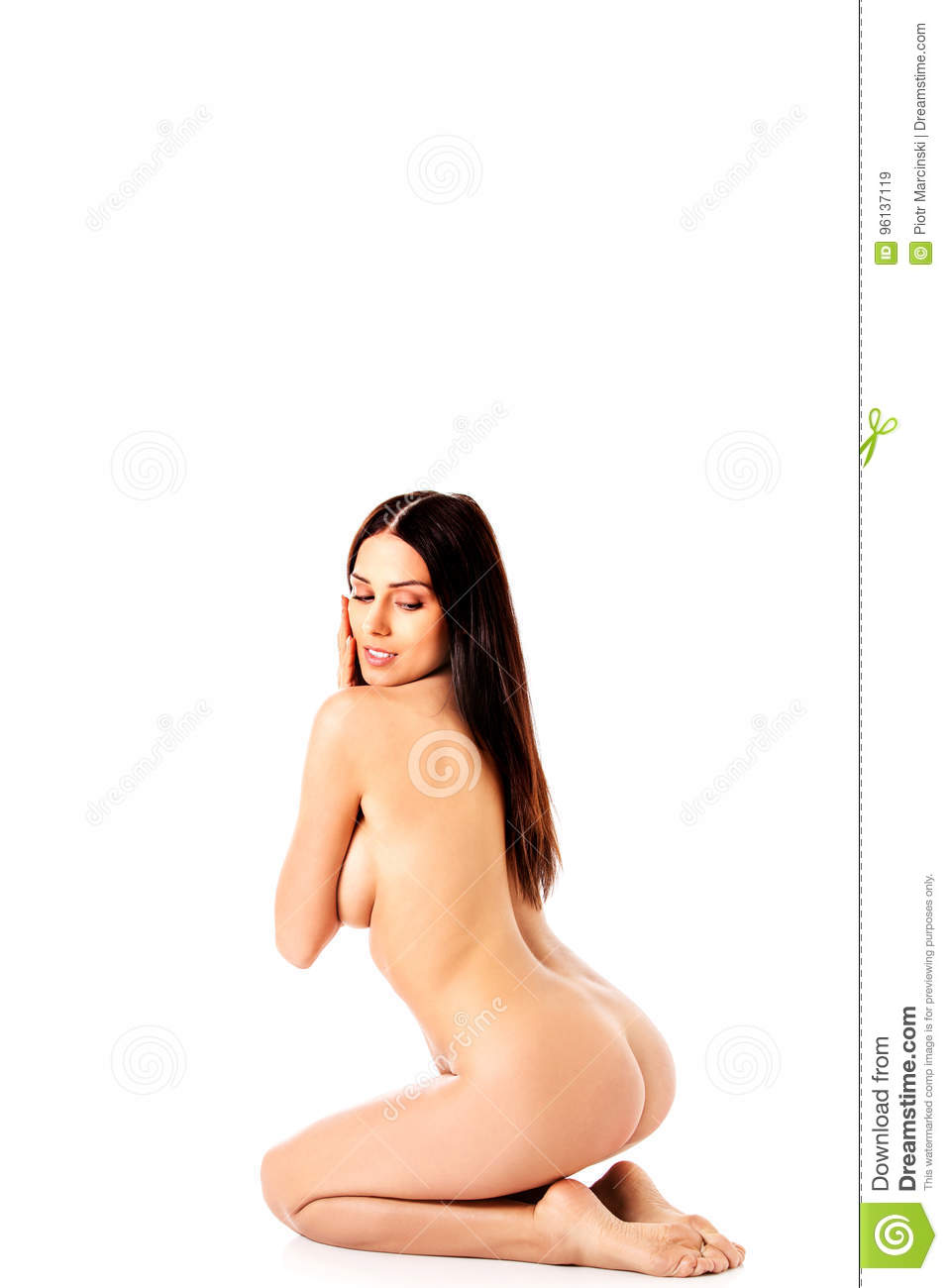 Free Nude Woman Kneeling Submissive