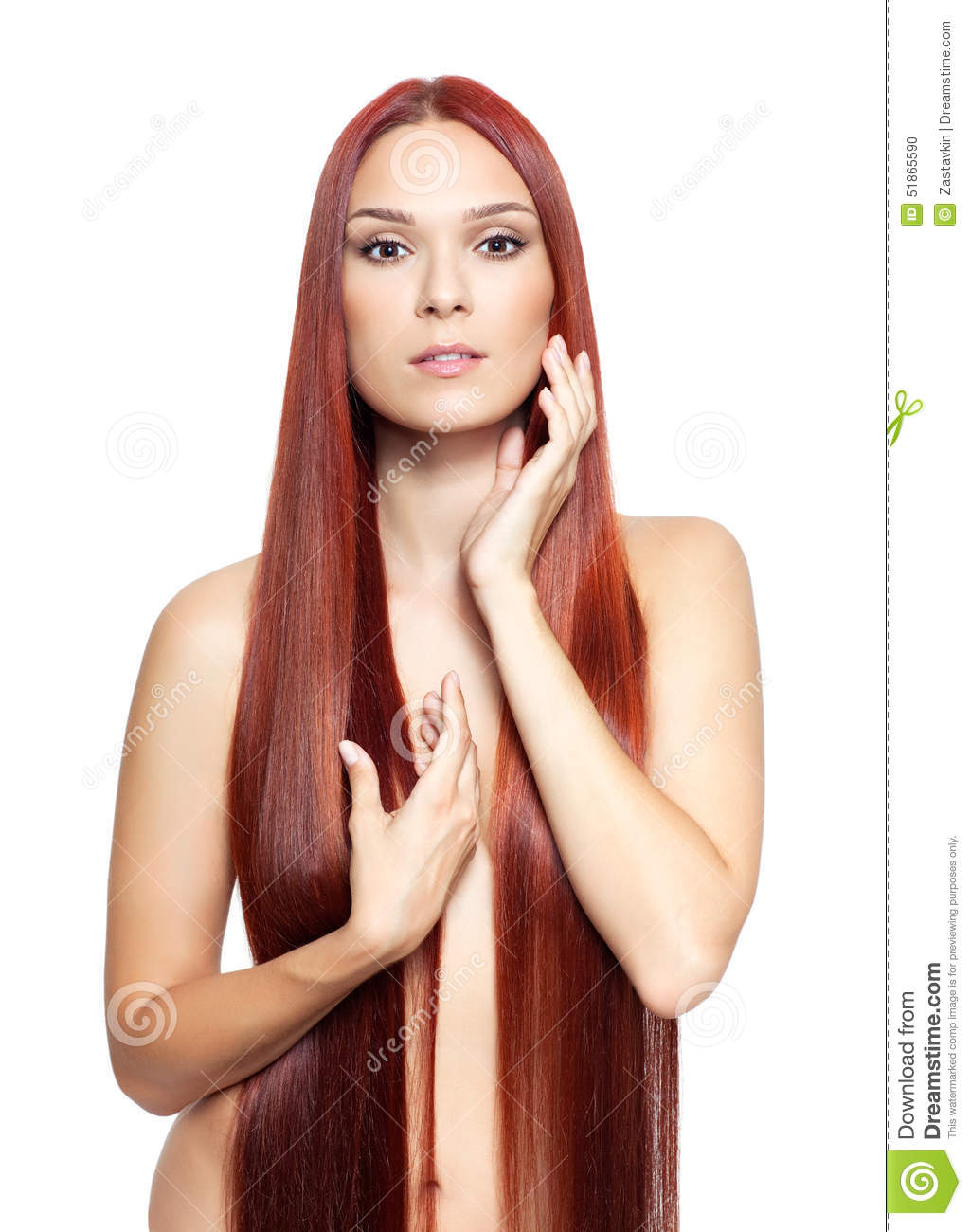 long red hair nude