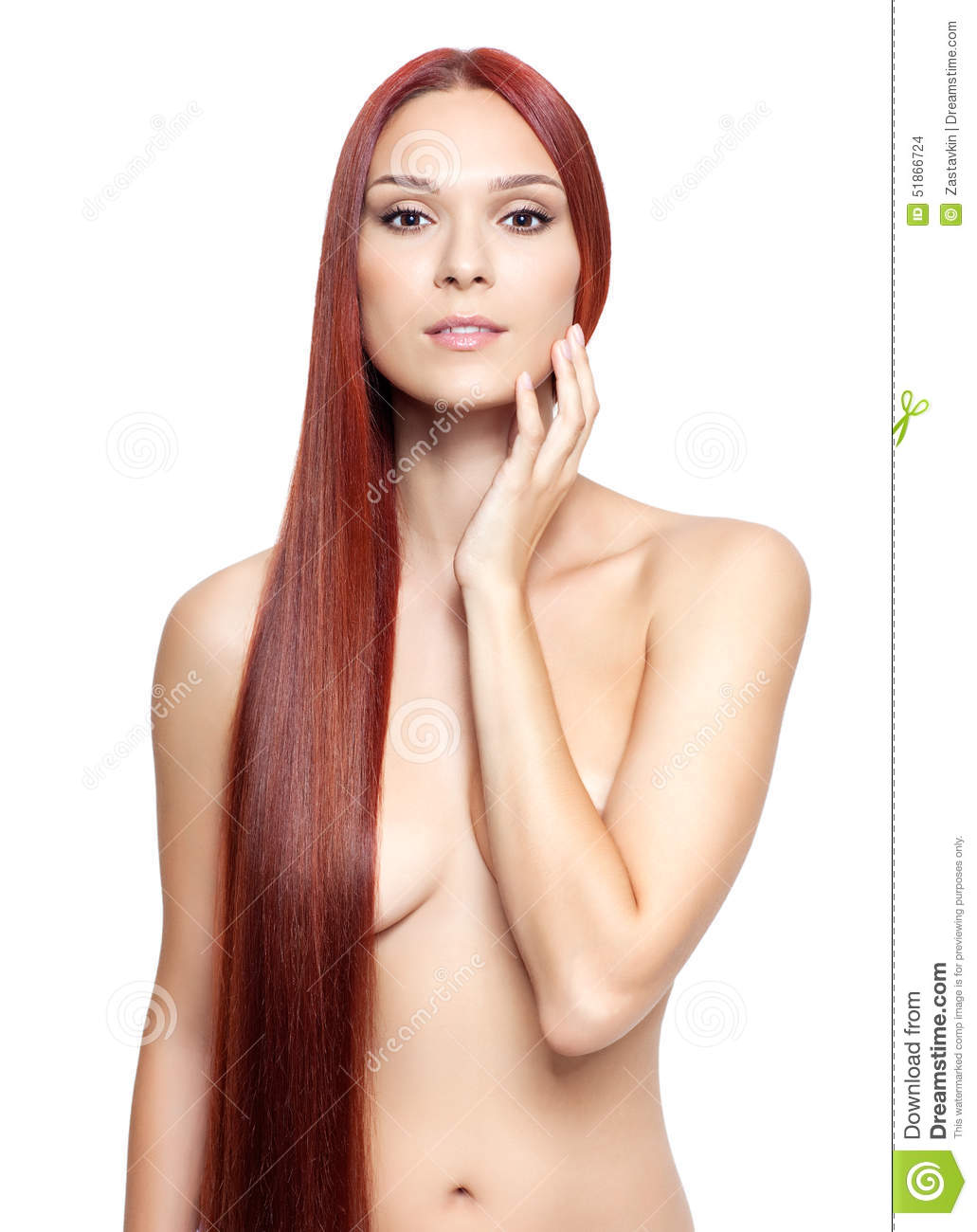 Girls red hair nude with dyed
