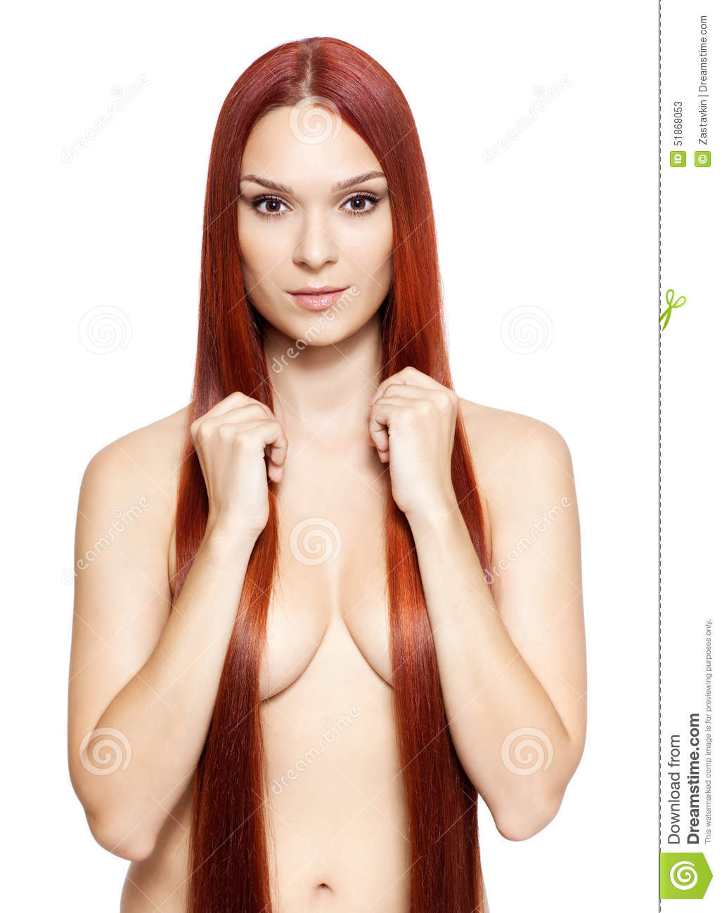 nude red hair girls with Naked long