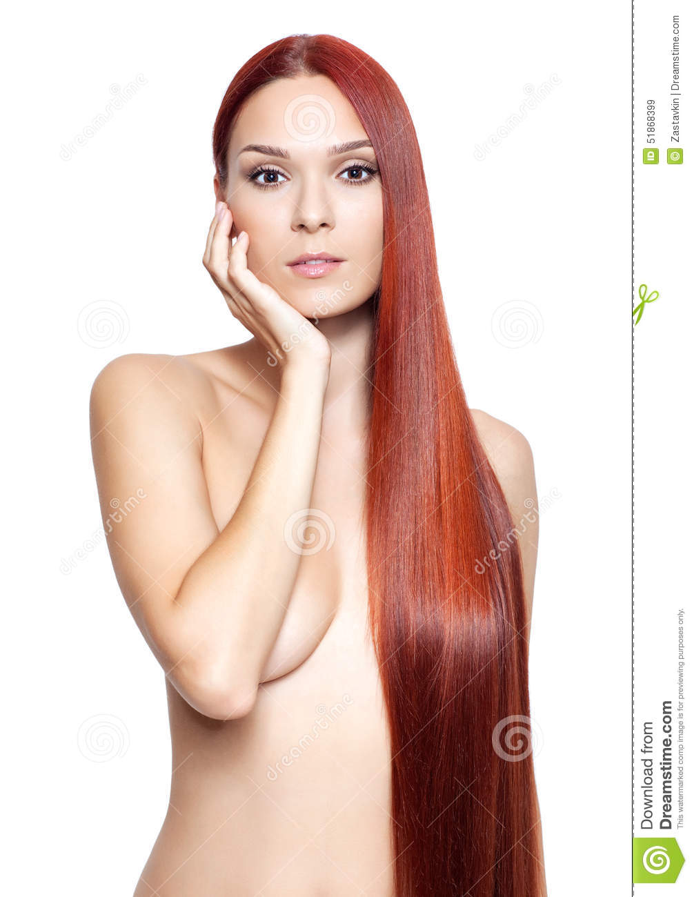 nude woman with pink hair