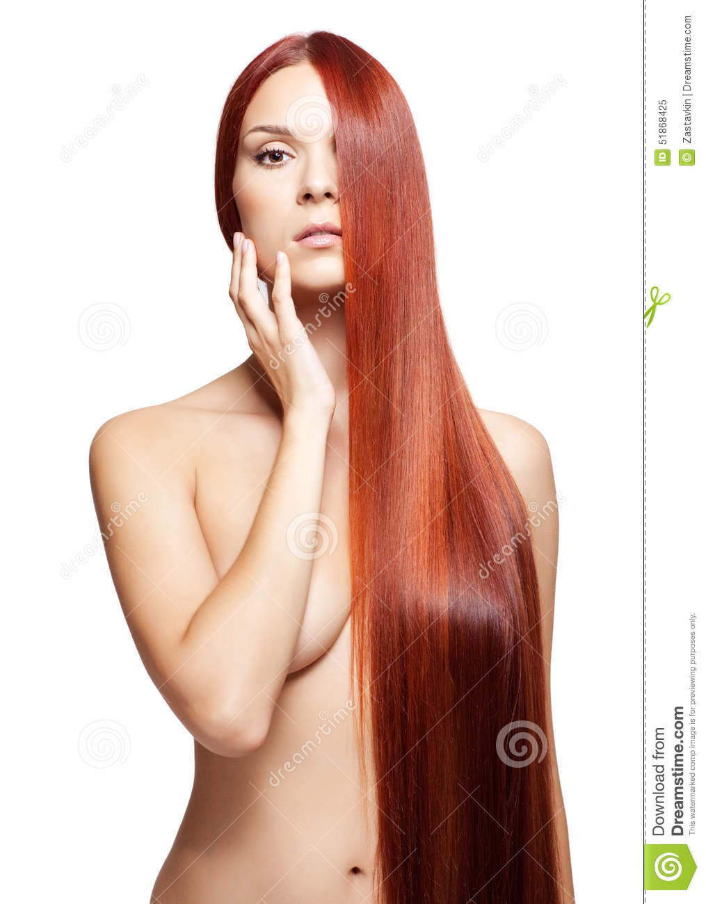 Haired nude red woman
