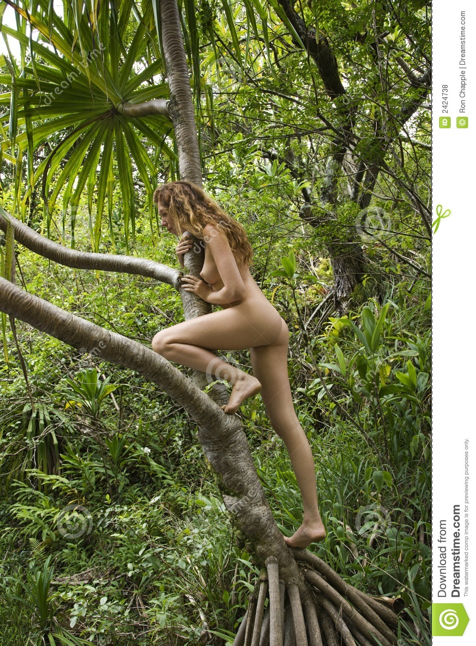 Man and woman nude in nature