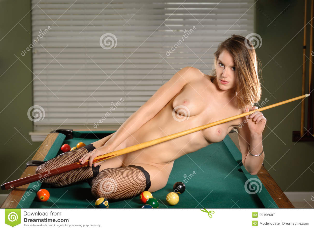 nude woman on pool table video