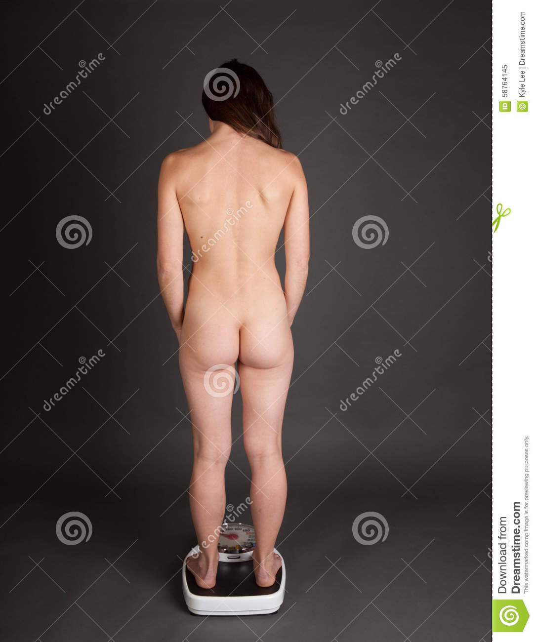 Nude Woman On Scale Stock Image Image Of Bodycare -2039