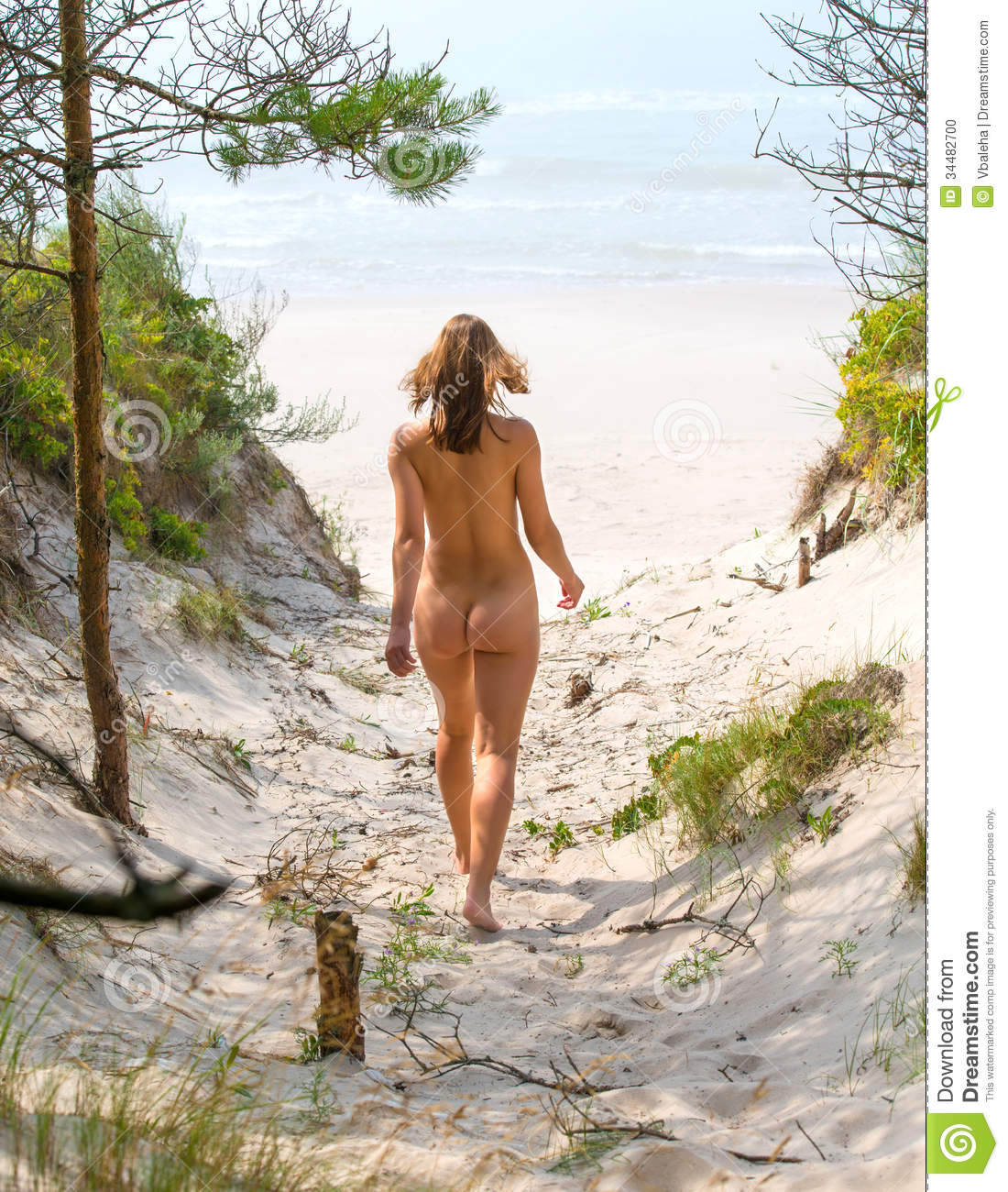 hot women naked walking