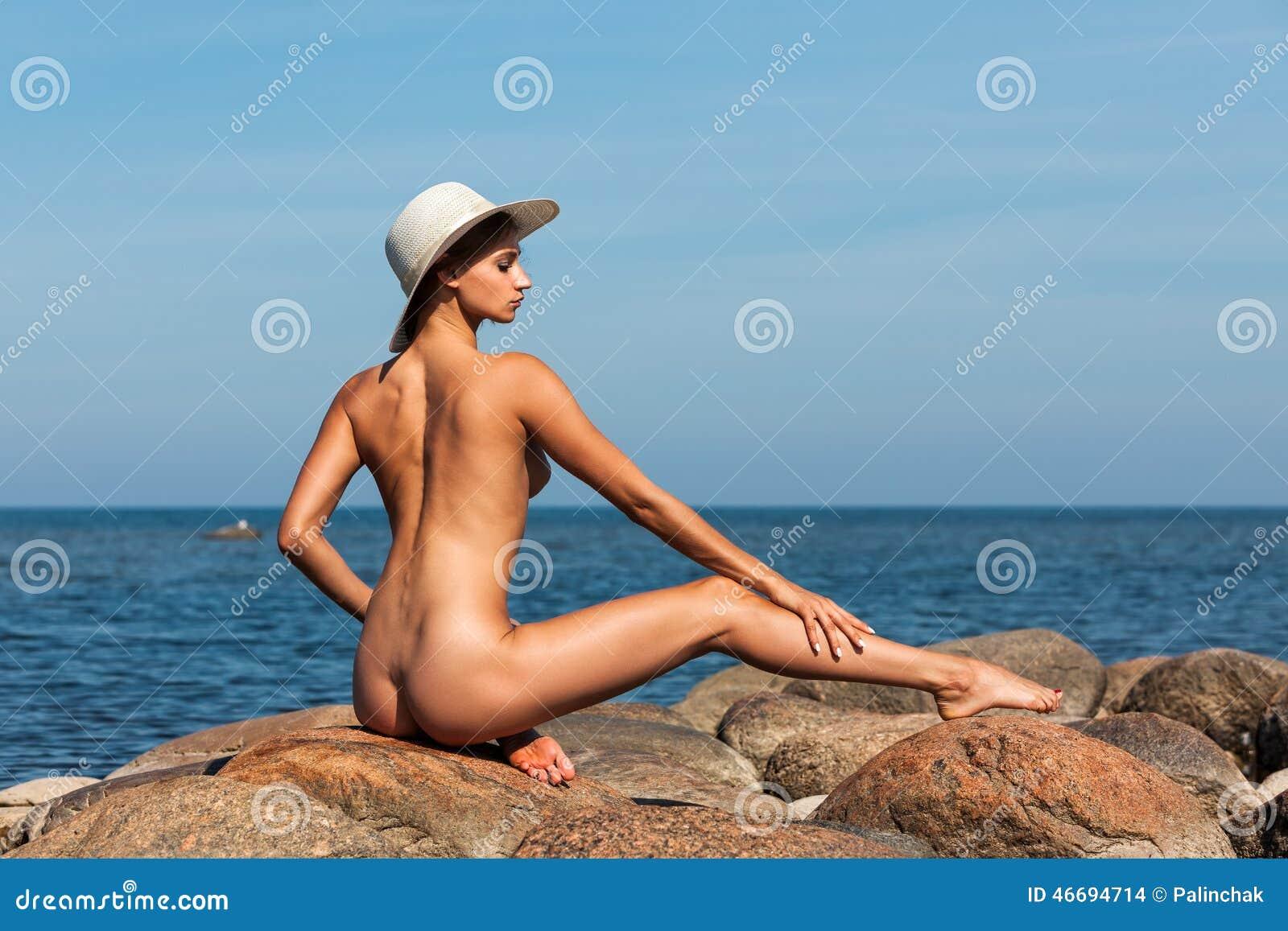 Sexy naked women on beach