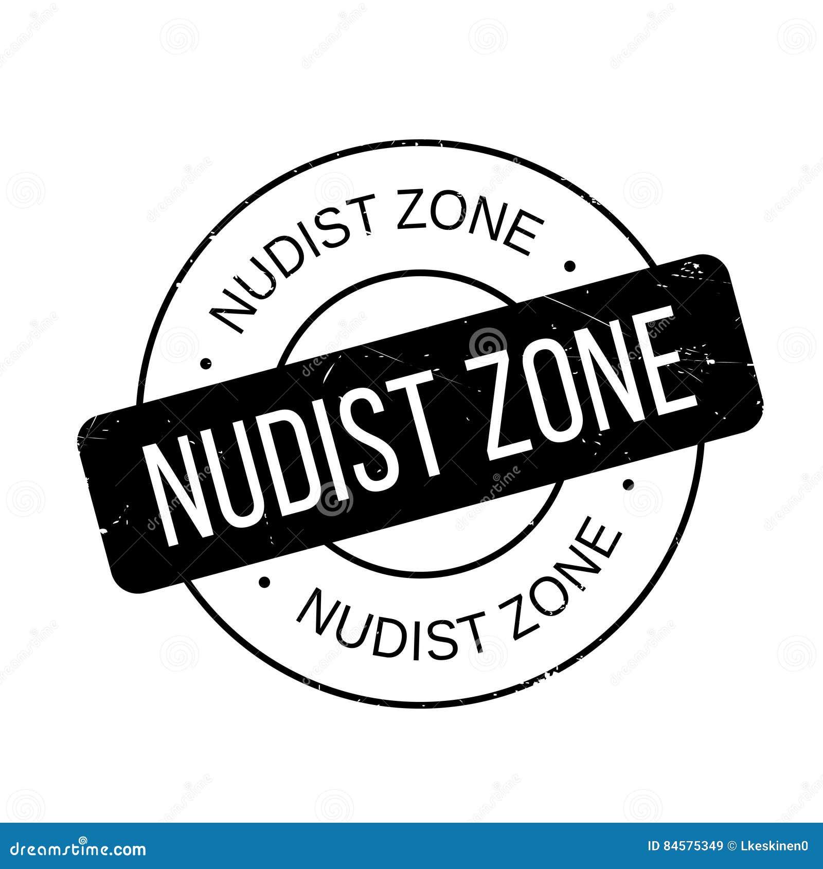 Nudist Zone Nudist Zone Rubber Stamp Stock Illustration