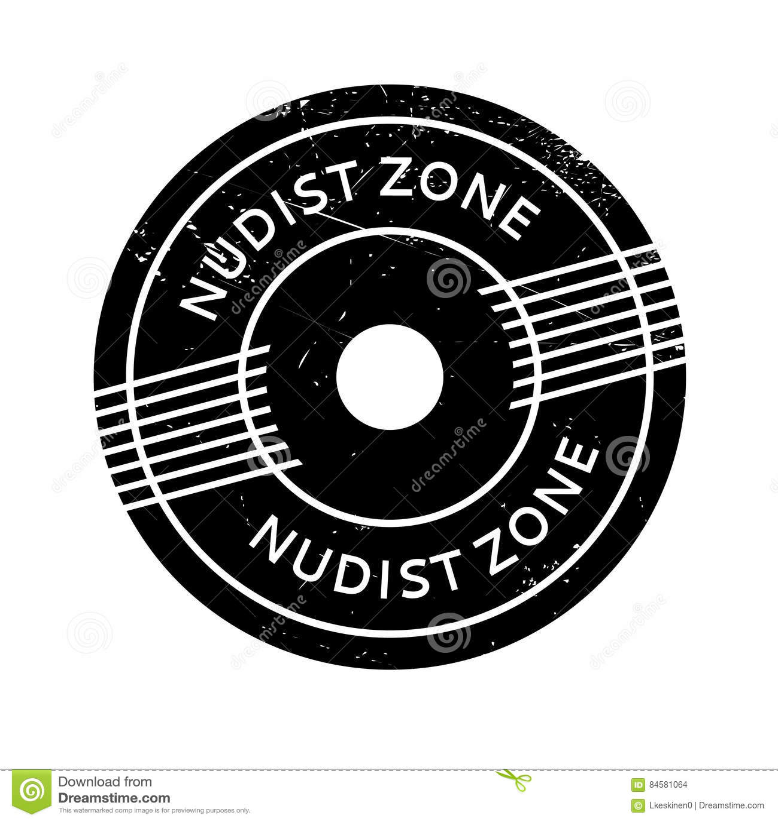 Nudist Zone Nudist Zone rubber stamp