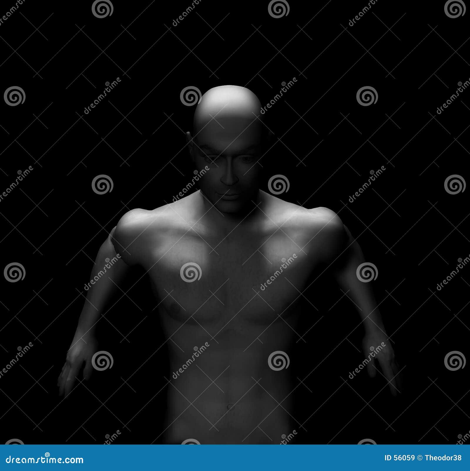 Download Nudité male-9 illustration stock. Illustration du type, homme - 56059