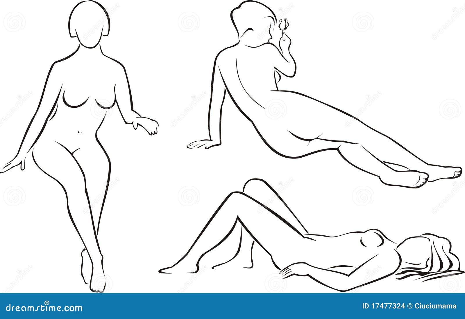 Силуэт голой женщины 5 фотография