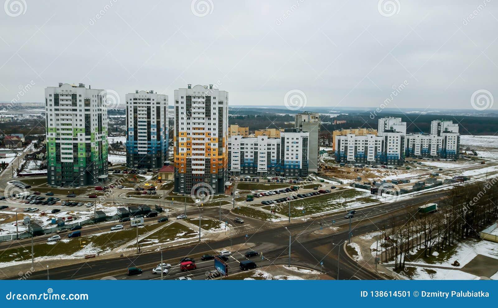 Nueva área residencial de edificios de varios pisos