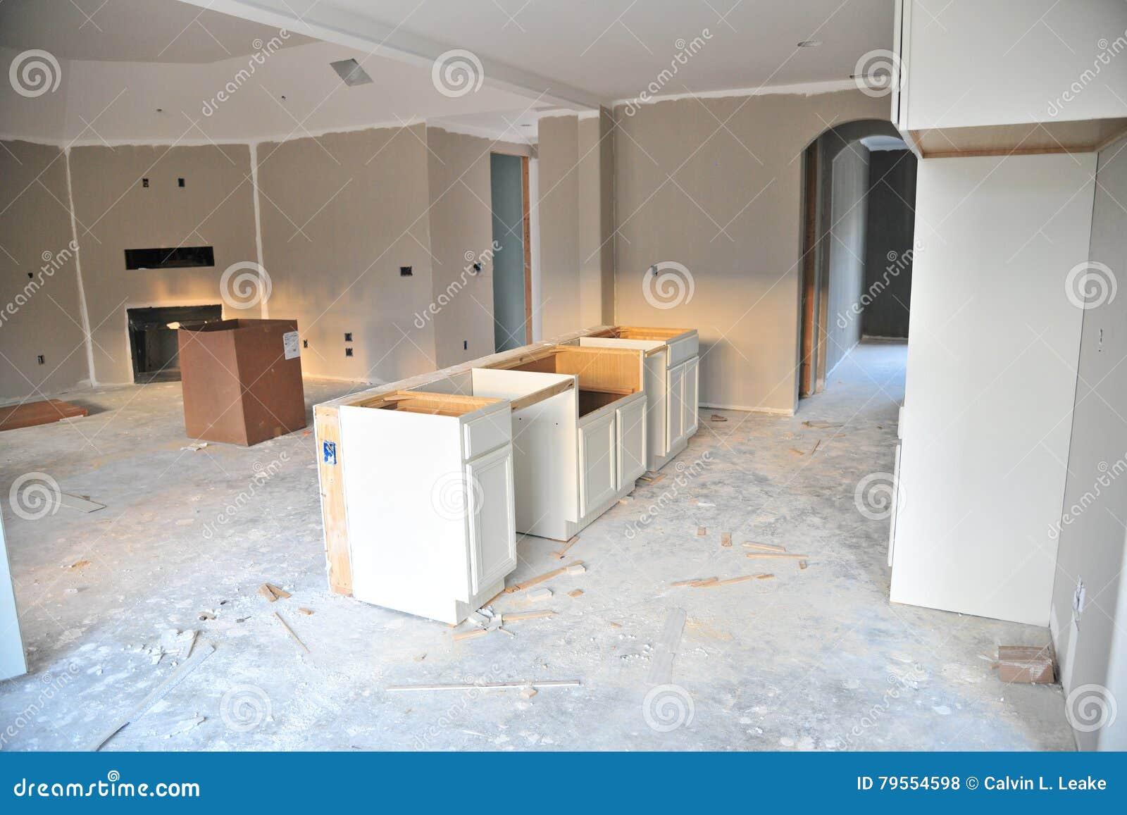 Nueva cocina casera inacabada