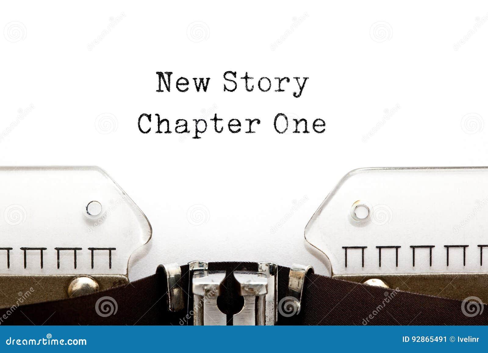 Nueva máquina de escribir del capítulo uno de la historia