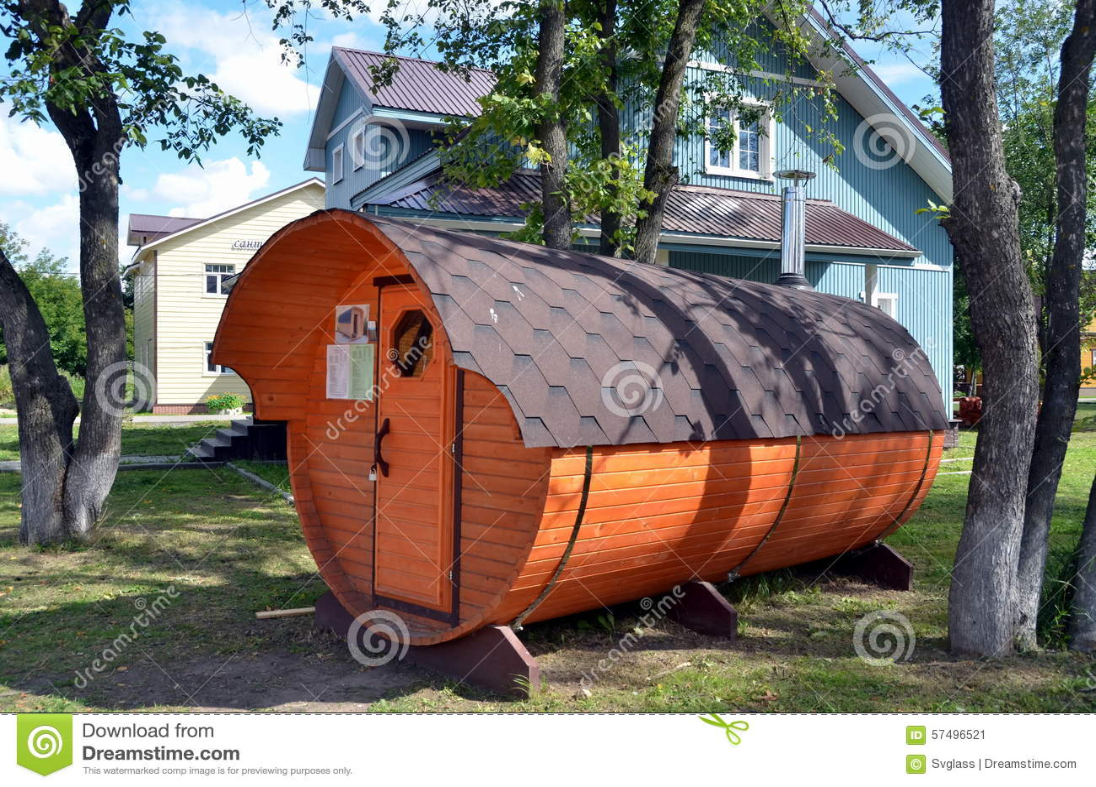 Nueva sauna de madera para la venta foto editorial - Construccion de saunas ...