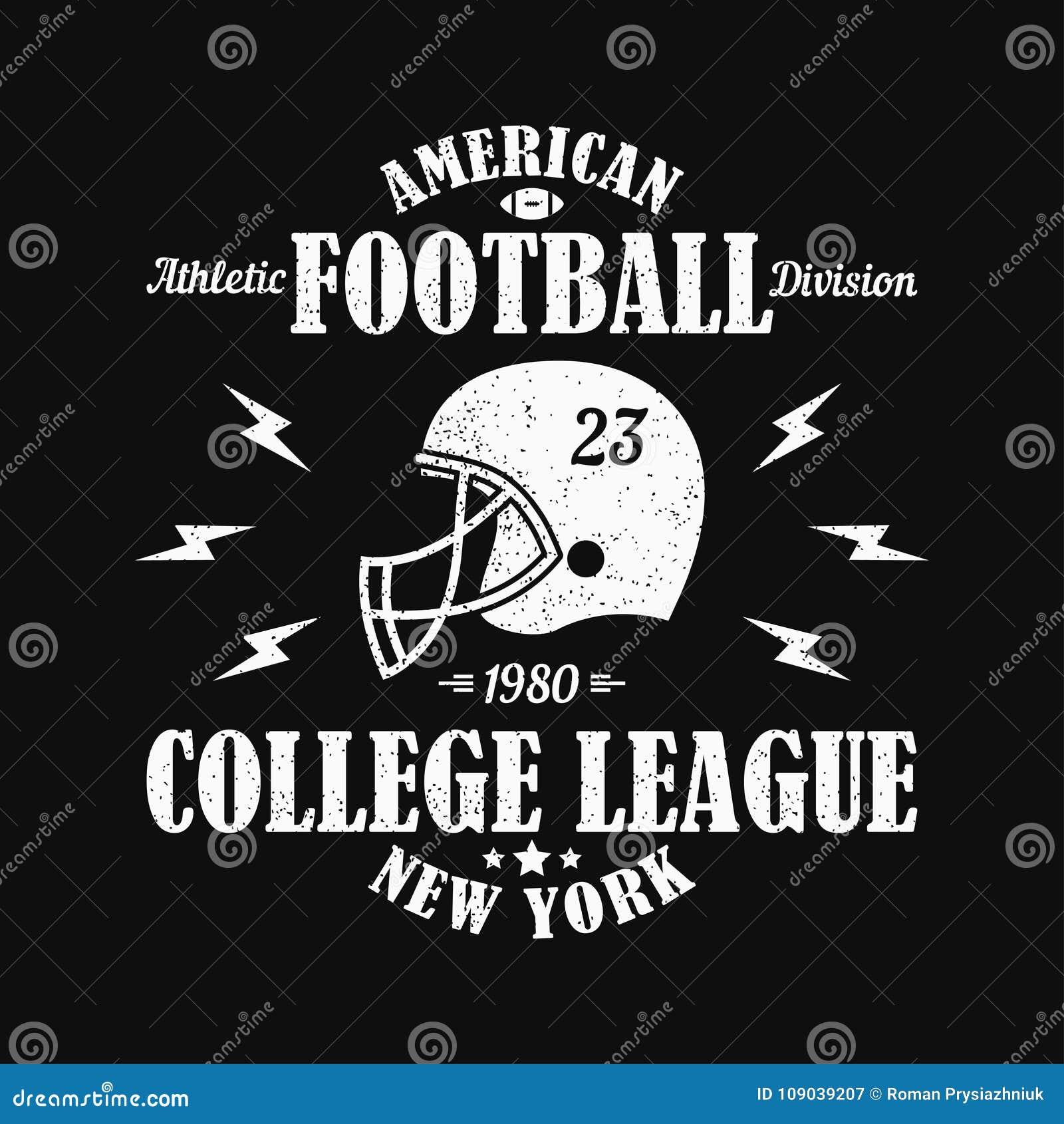 Nueva York, Impresión Del Grunge Del Fútbol Americano Para La Ropa ...