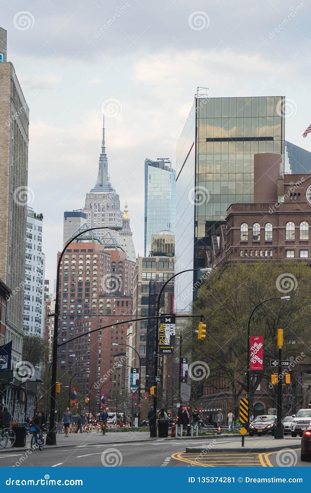 Nueva York, los E.E.U.U. - 29 de abril de 2018: Lower East Side, Manhattan