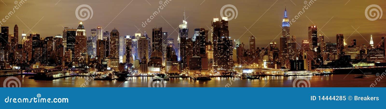 Nueva York Manhattan en la noche