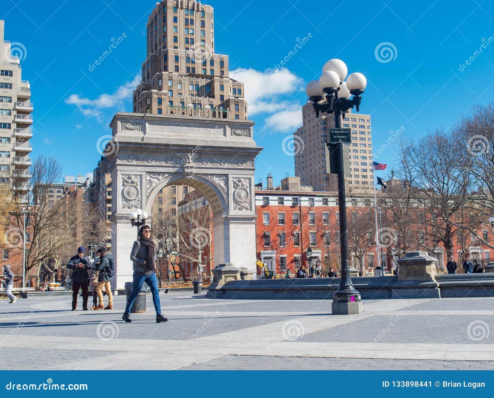 Nueva York, NY/United States-=Feb 22, 2016: Invierno en Washington
