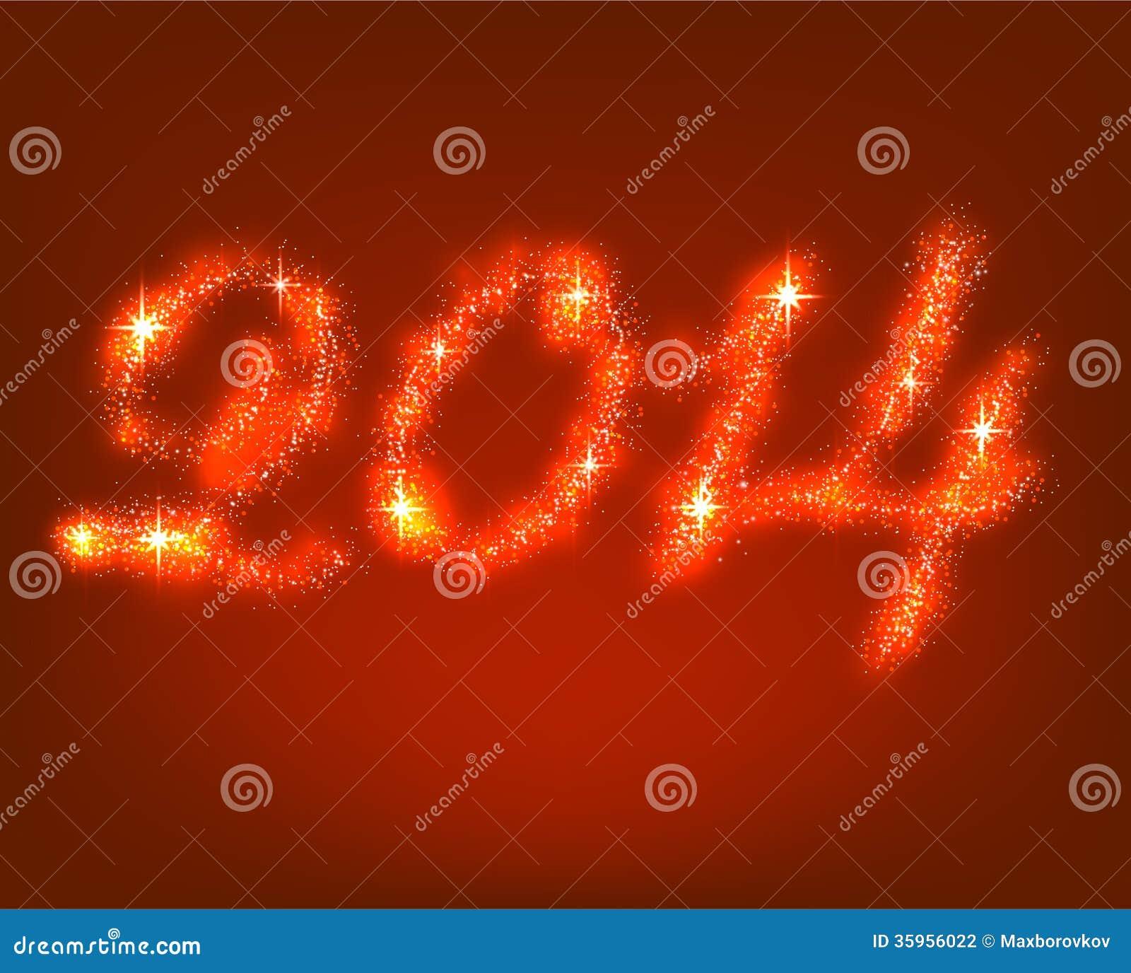 Nuevo 2014 años feliz.