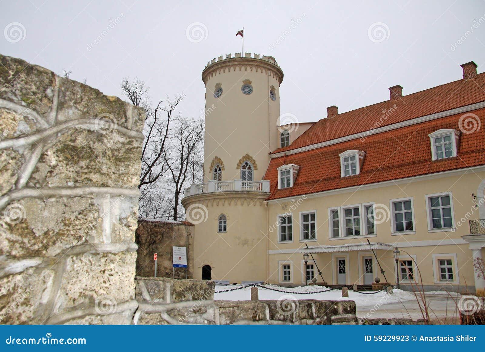 Nuevo castillo en Cesis Él WS construida en siglo XVIII Ahora contiene historia y a Art Museum de Cesis