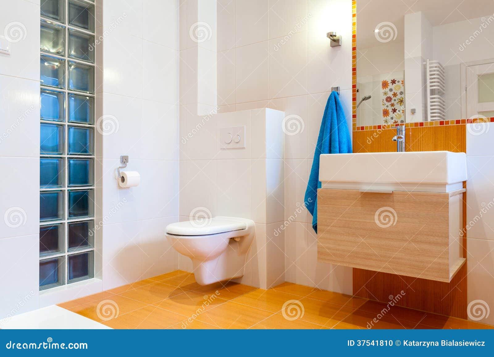 Nuevo cuarto de baño práctico en casa moderna