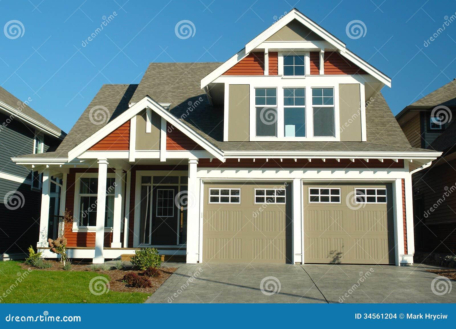 Nuevo exterior casero de la casa