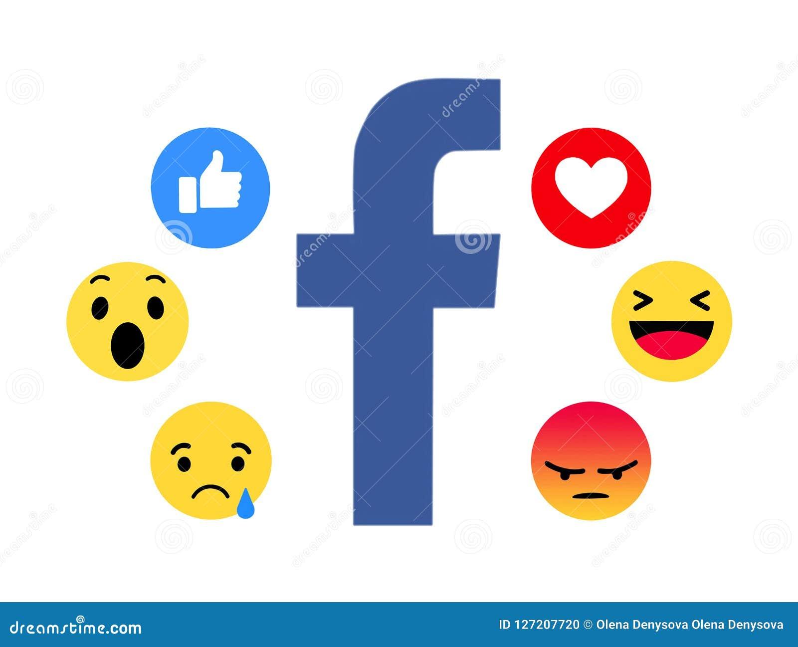 Nuevo Facebook le gusta el botón 6 Emoji comprensivo