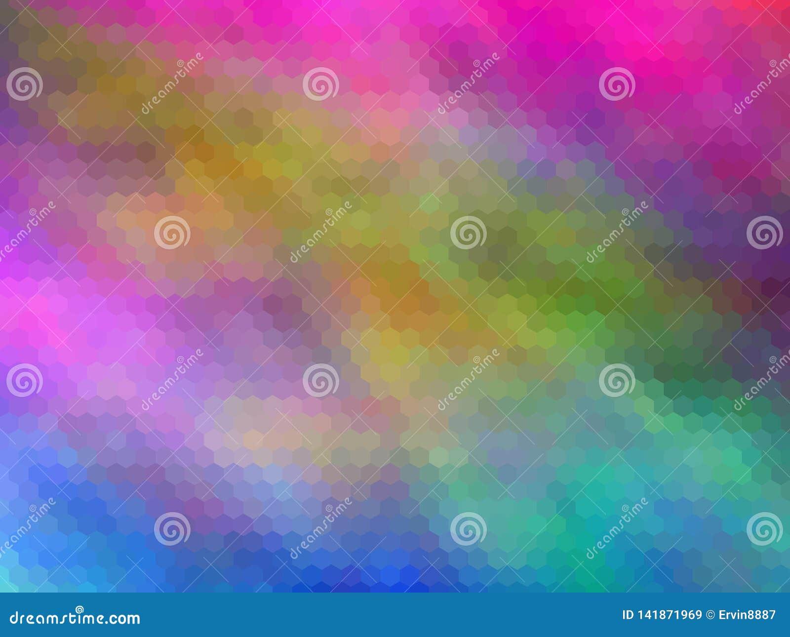 Nuevo fondo de lujo Multicolor, hexagonal pixeled