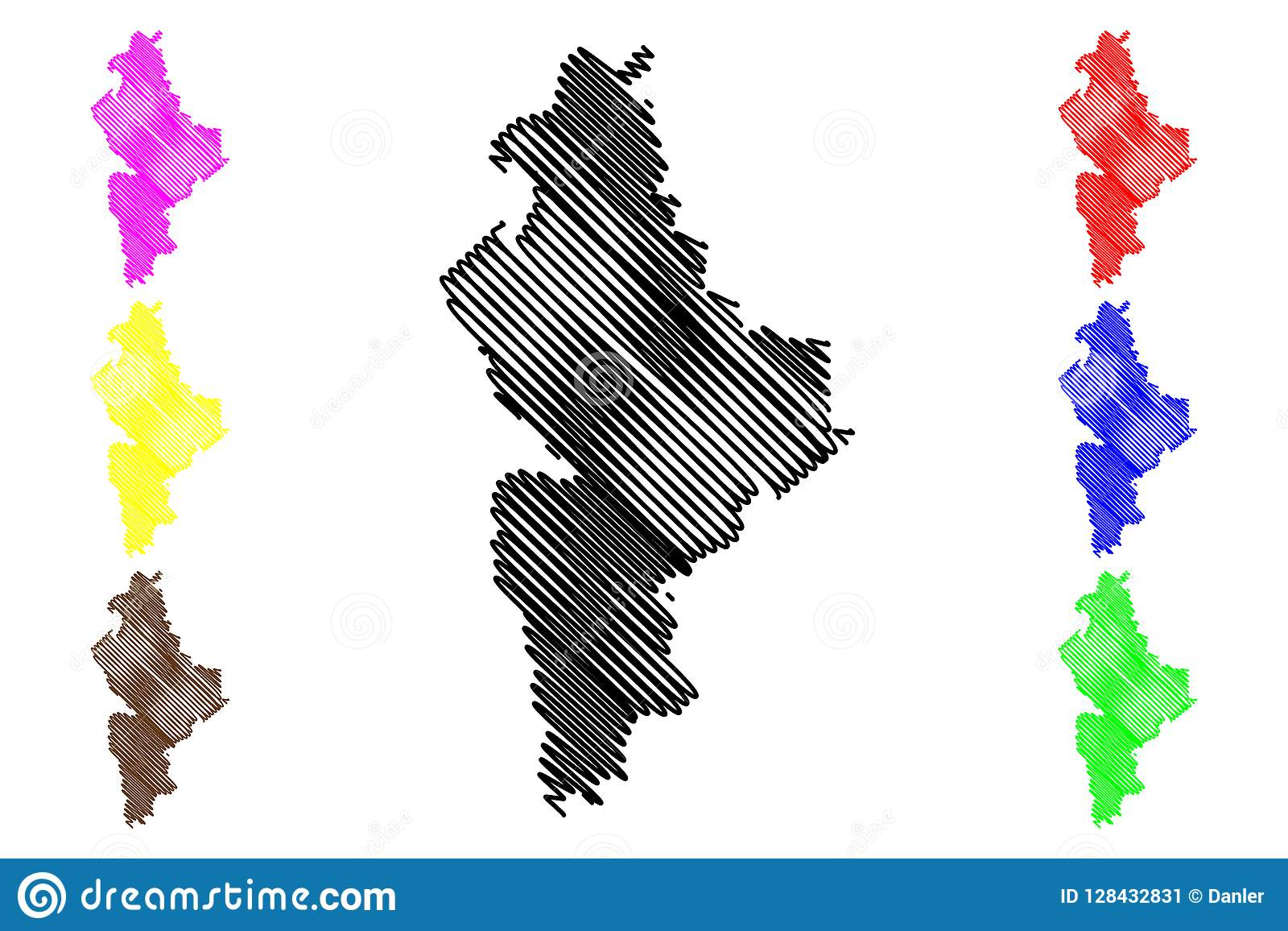 Nuevo Leon Map Vector Stock Vector Illustration Of Icon 128432831