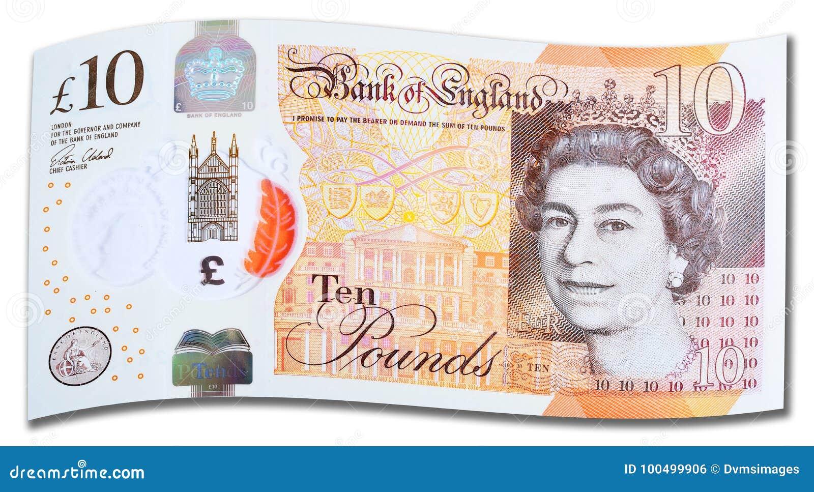 Nuevo Reino Unido nota de diez libras