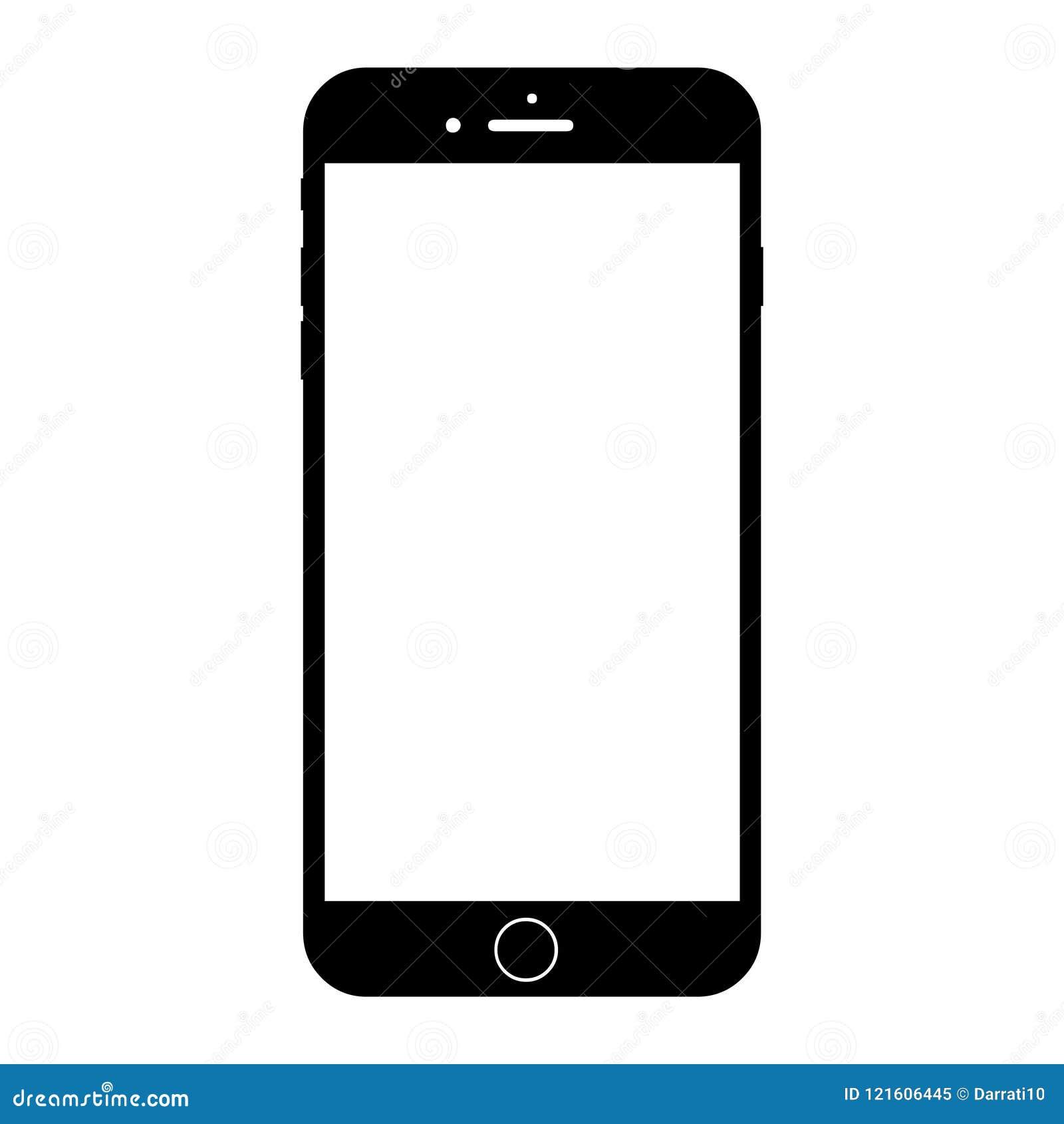 Nuevo smartphone blanco moderno similar al iphone 8 más