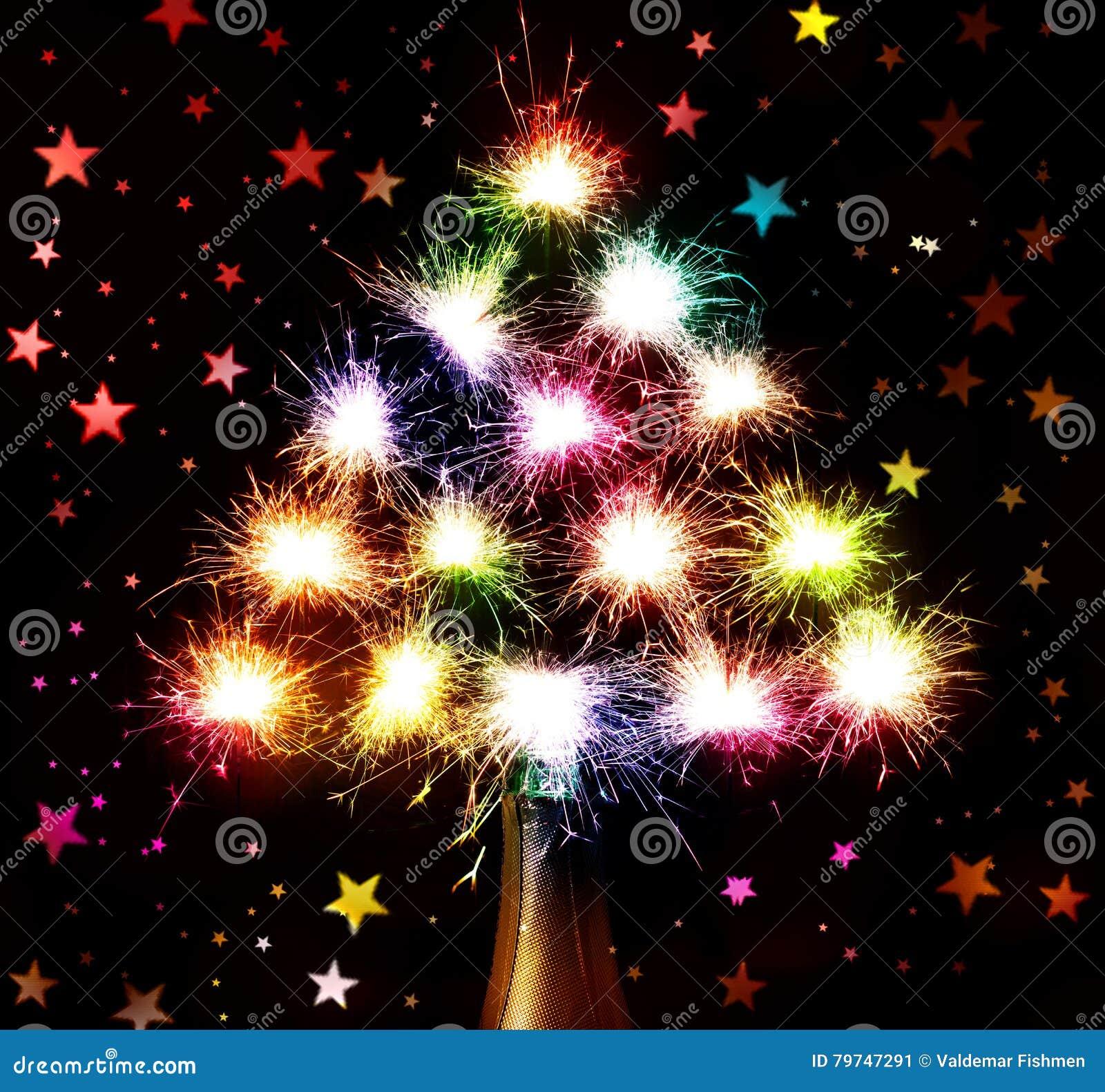 Nuevo Year& x27; fuegos artificiales de s de la botella