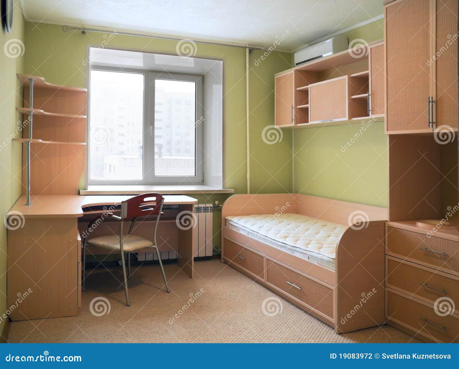 Nuevos Muebles En El Cuarto De Niños Fotografía de archivo  Imagen