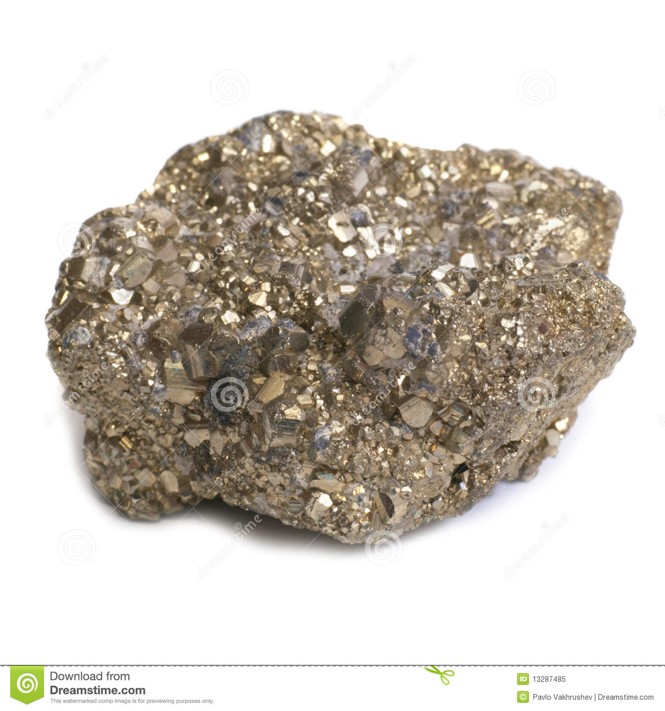 nugget on fools gold royalty free stock photo image