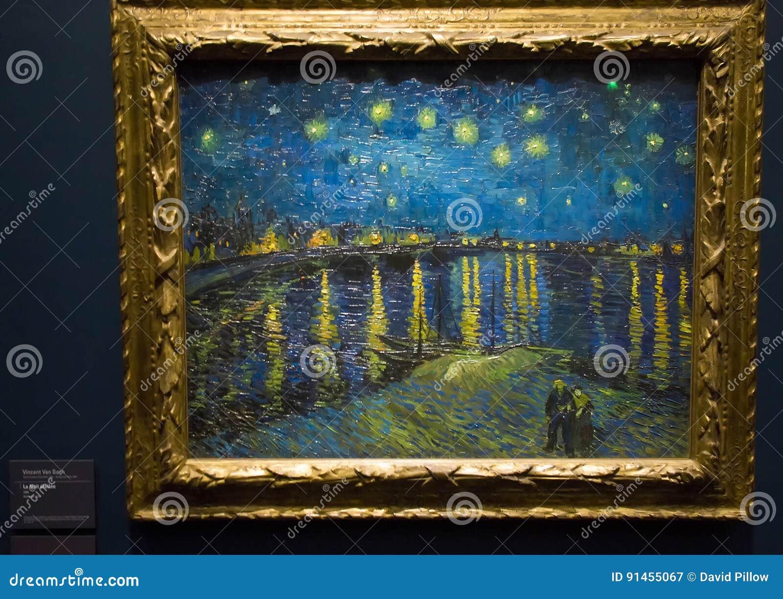 Nuit étoilée au-dessus du Rhône par Vincent van Gogh