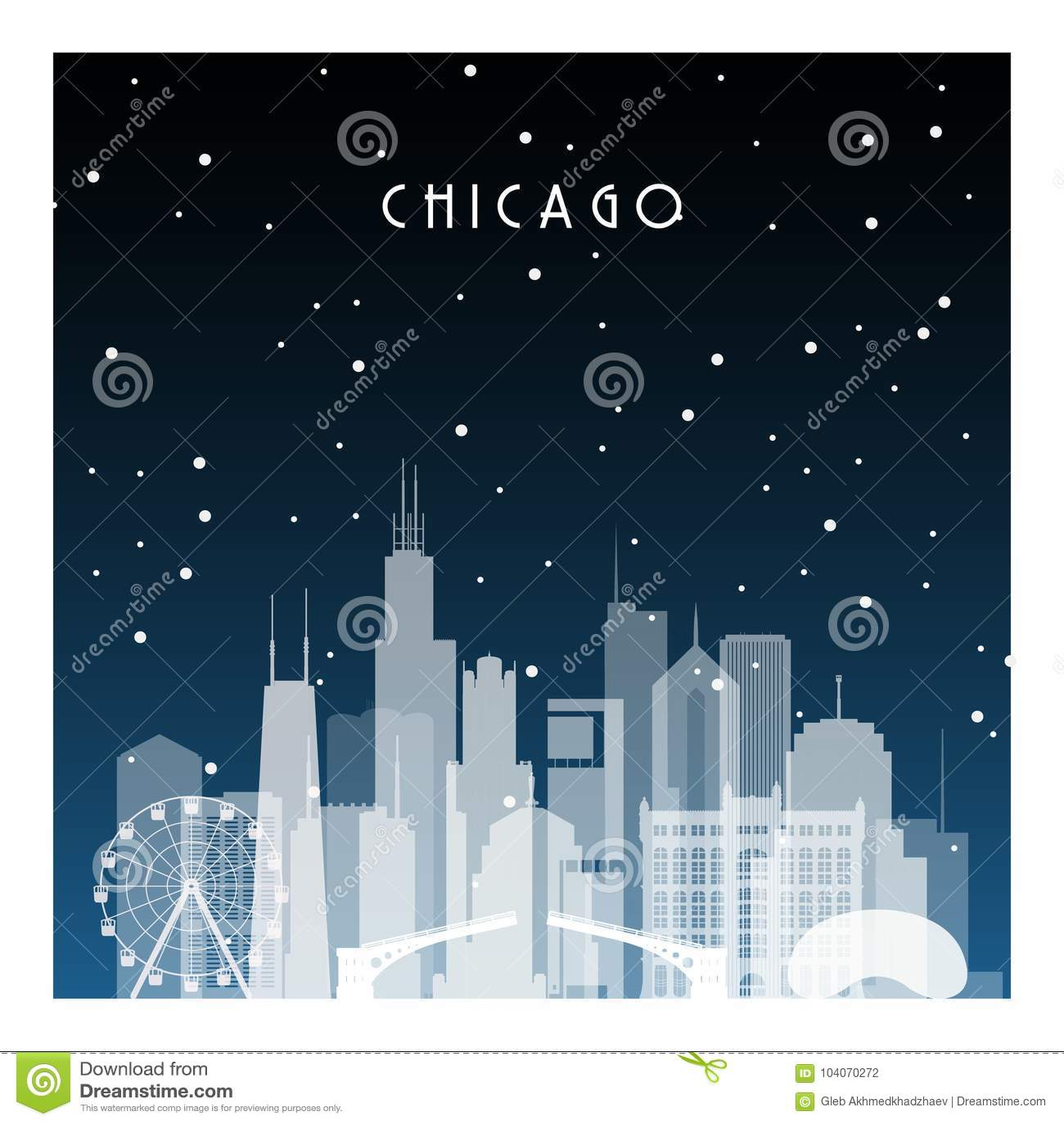 Nuit d hiver Chicago